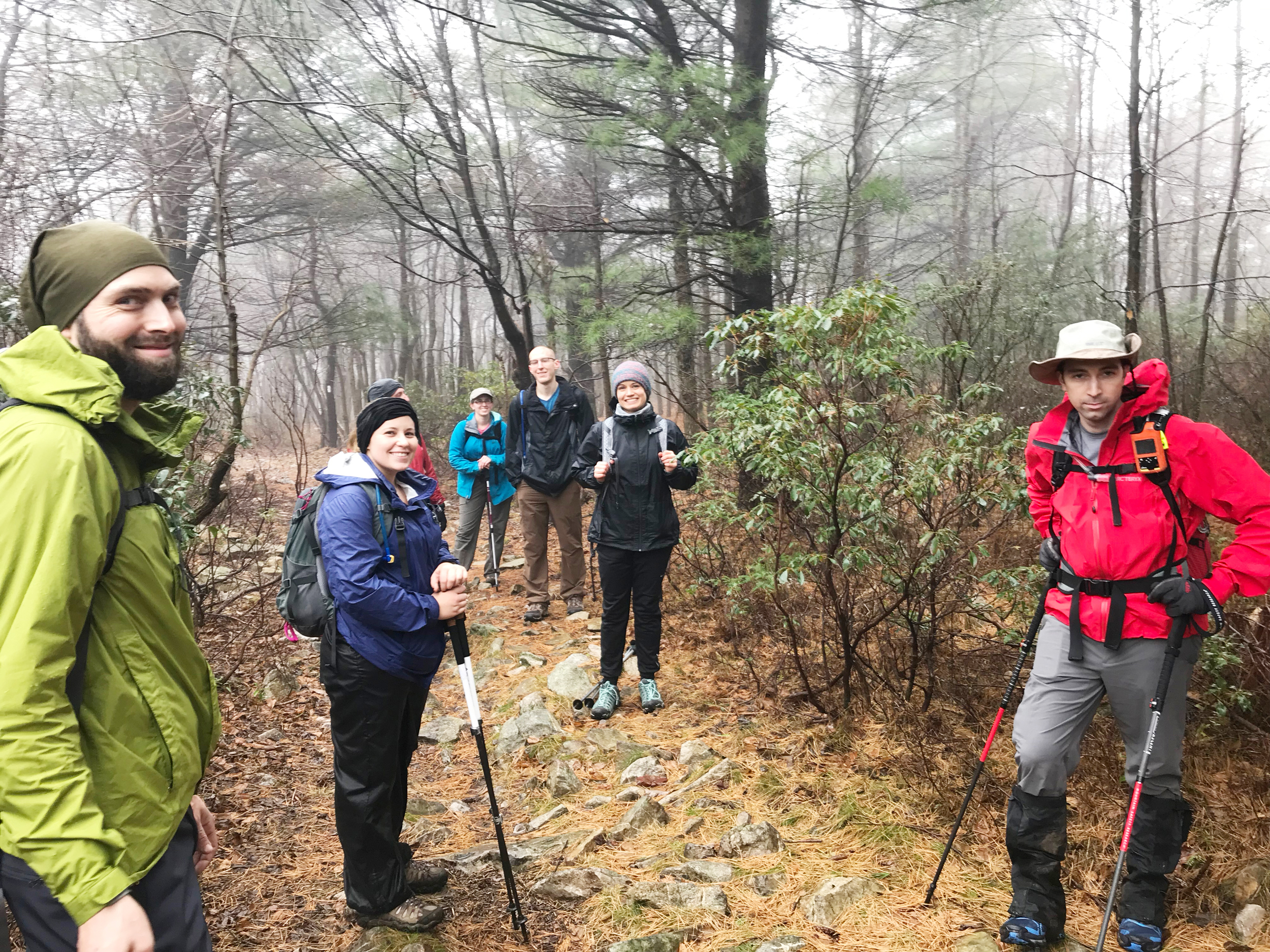 a group of AMC hikers