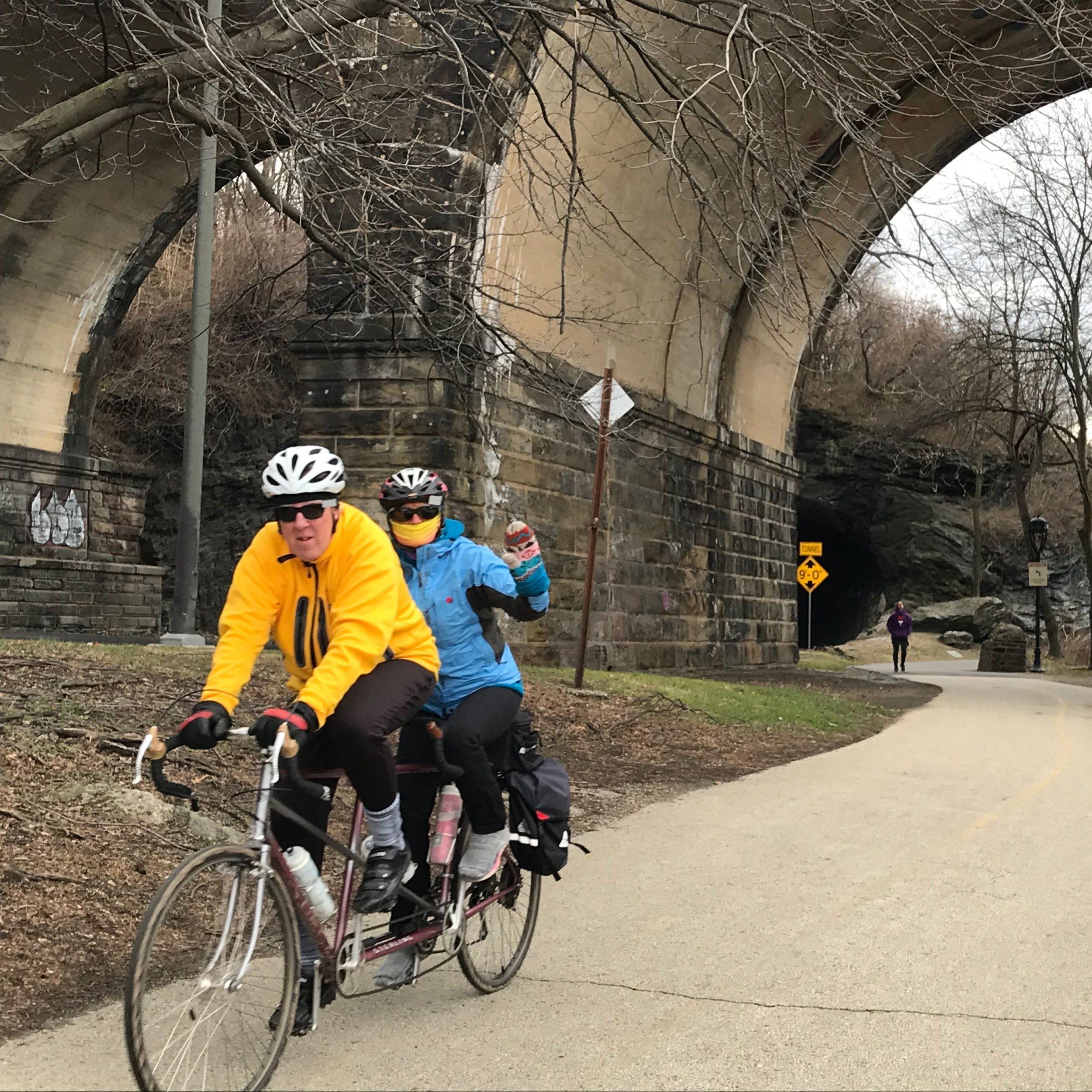 Tandem Bike on the Schuylkill River Trail