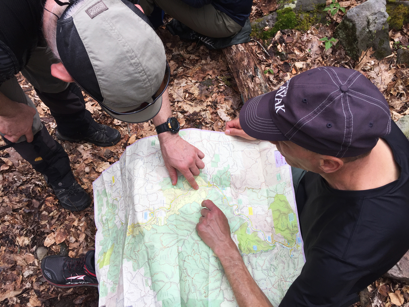 Hikers review map